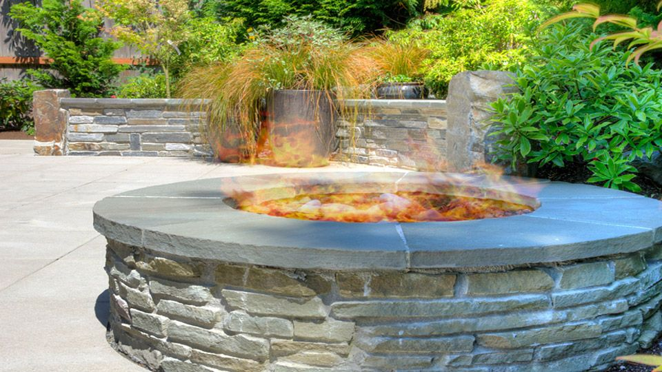 Gas Ledgestone Patio Fire Pit