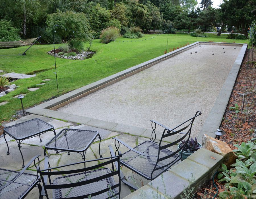 Bocce Court Patio
