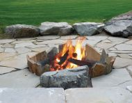 Flagstone Firepit - After