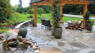 Random Flagstone Outdoor Room