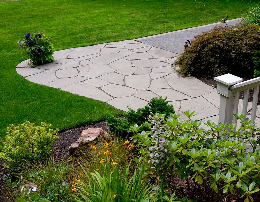 Flagstone Path - Before