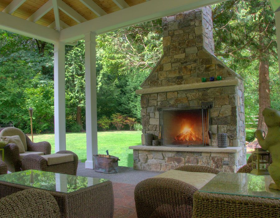 Fireplace Patio Room