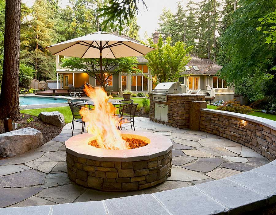 Fire Pit Patio Feature