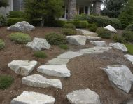 Flagstone Path With Boulder Steps