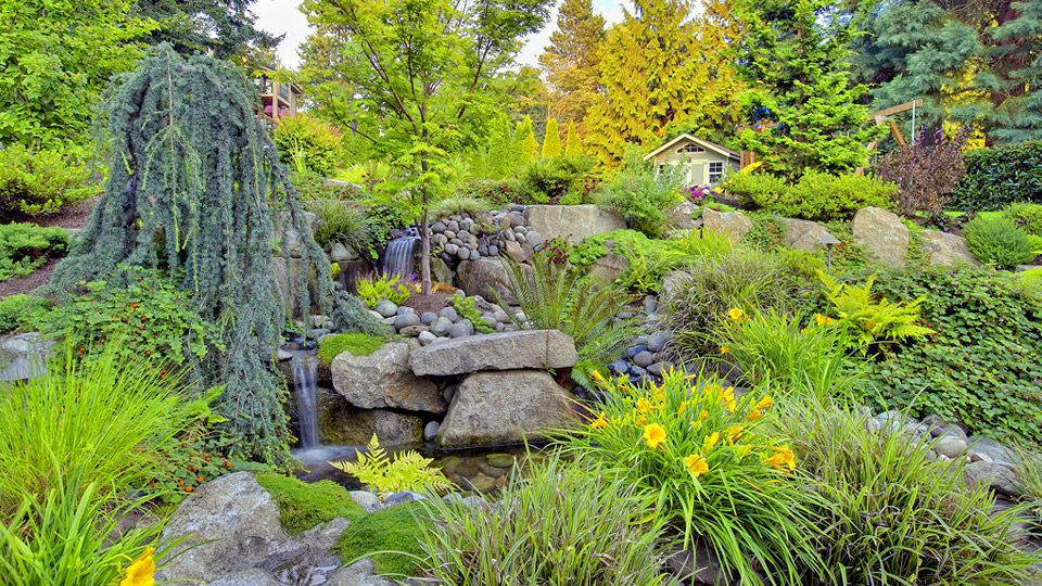 Multi-Tiered Waterfall Garden