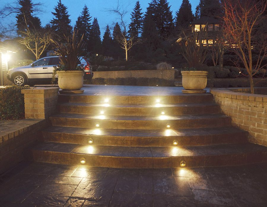 Lighted Pressed Concrete Stairway