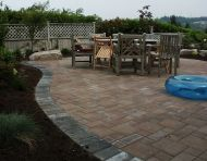 Flowing Paver Patio