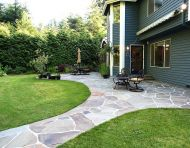 Mortared Flagstone Patio