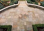 formal dimensional flagstone patio
