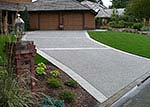 aggregate driveway with brushed colored borders