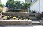 stair step backyard retaining walls