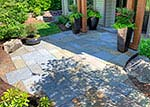 dimensional blue flagstone patio